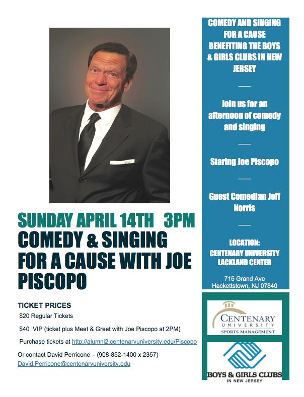 Centenary University to host The Joe Piscopo Show
