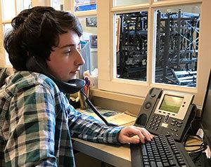 Trevor on the phone - Centenary University Theatre